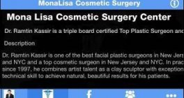 Monalisa Cosmetic Surgery iPhone & Android App